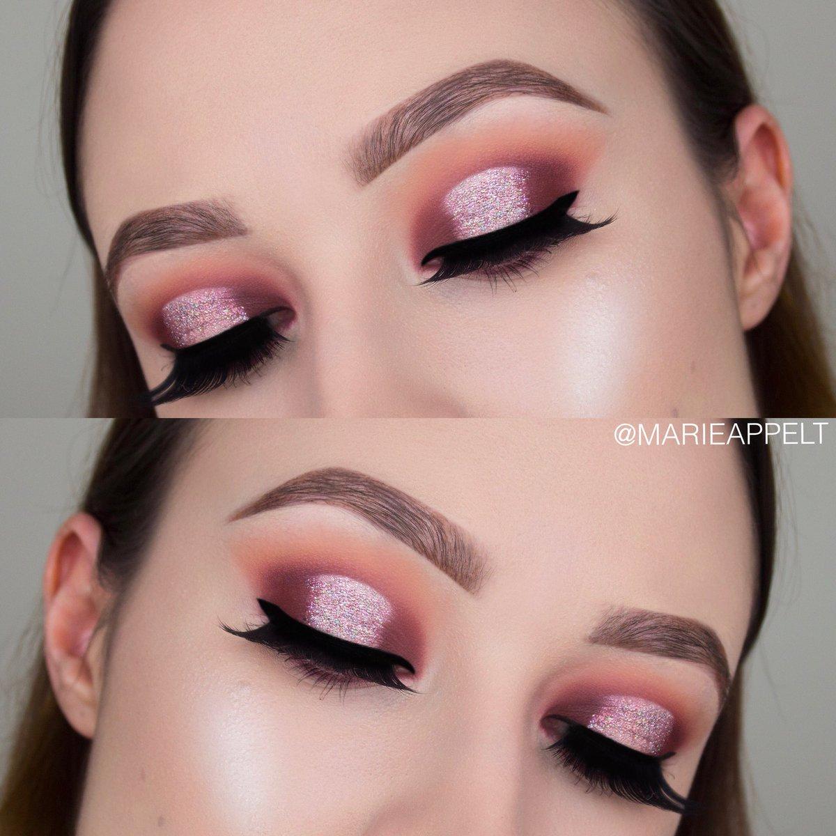 "marie appelt makeup on twitter: ""pink holographic glitter spotlight"