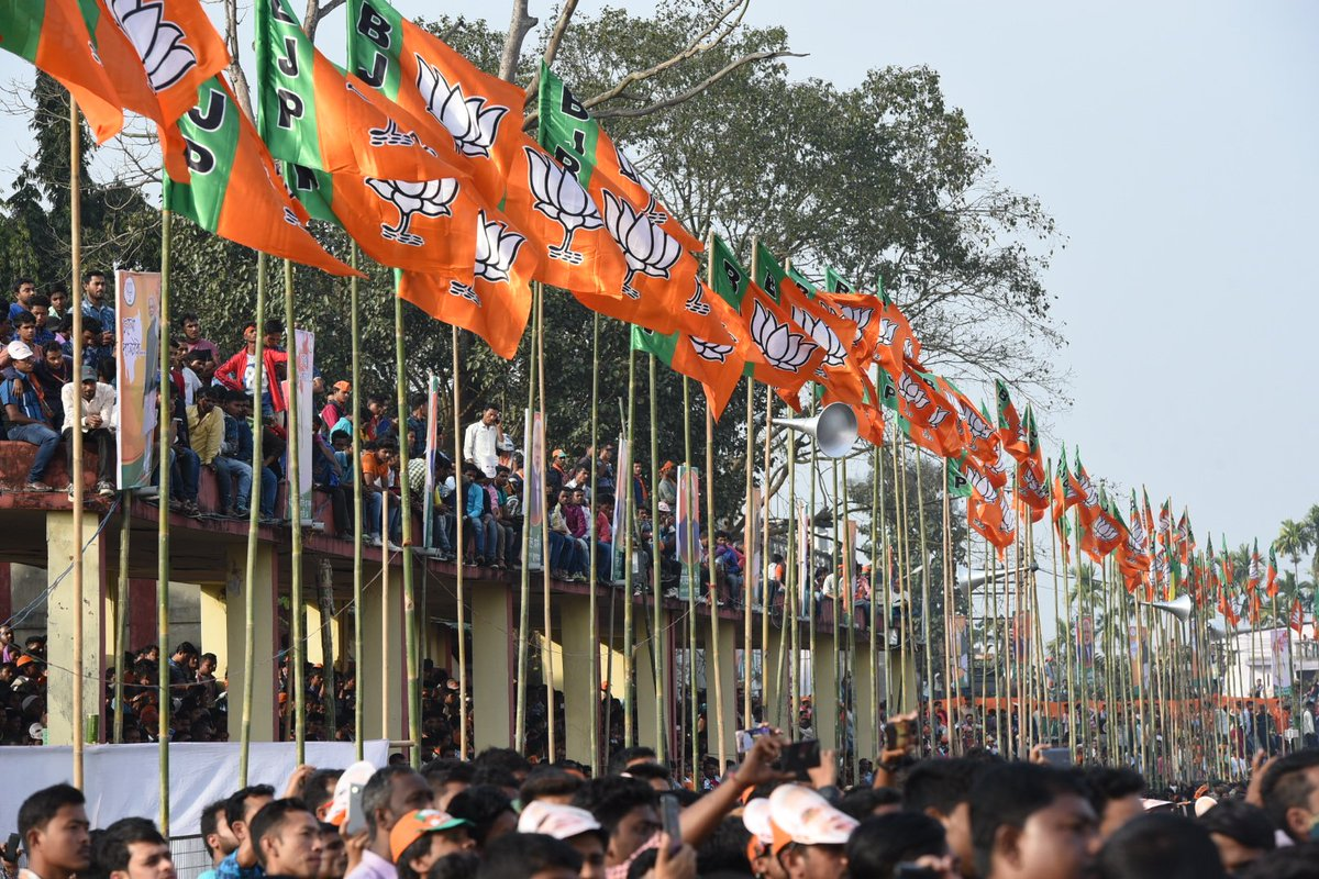 The BJP is the party of a New India. We are privileged to receive the blessings of people of all age groups, across all sections of society. We are a Party that believes in India's diversity, our unique culture and, above all, the strengths of 125 crore Indians! #IndiaTrustsBJP