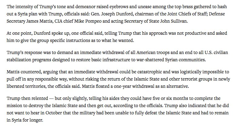 Will Saletan On Twitter Some Signs Here Re Syria That Trump May