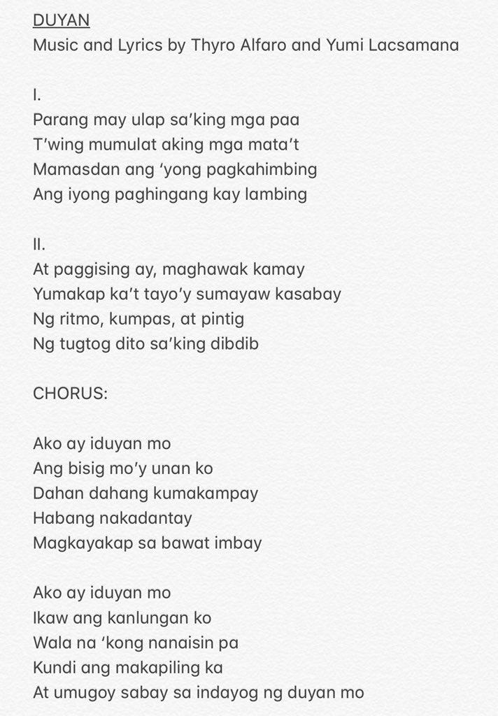 Dating ikaw lyrics by sarah