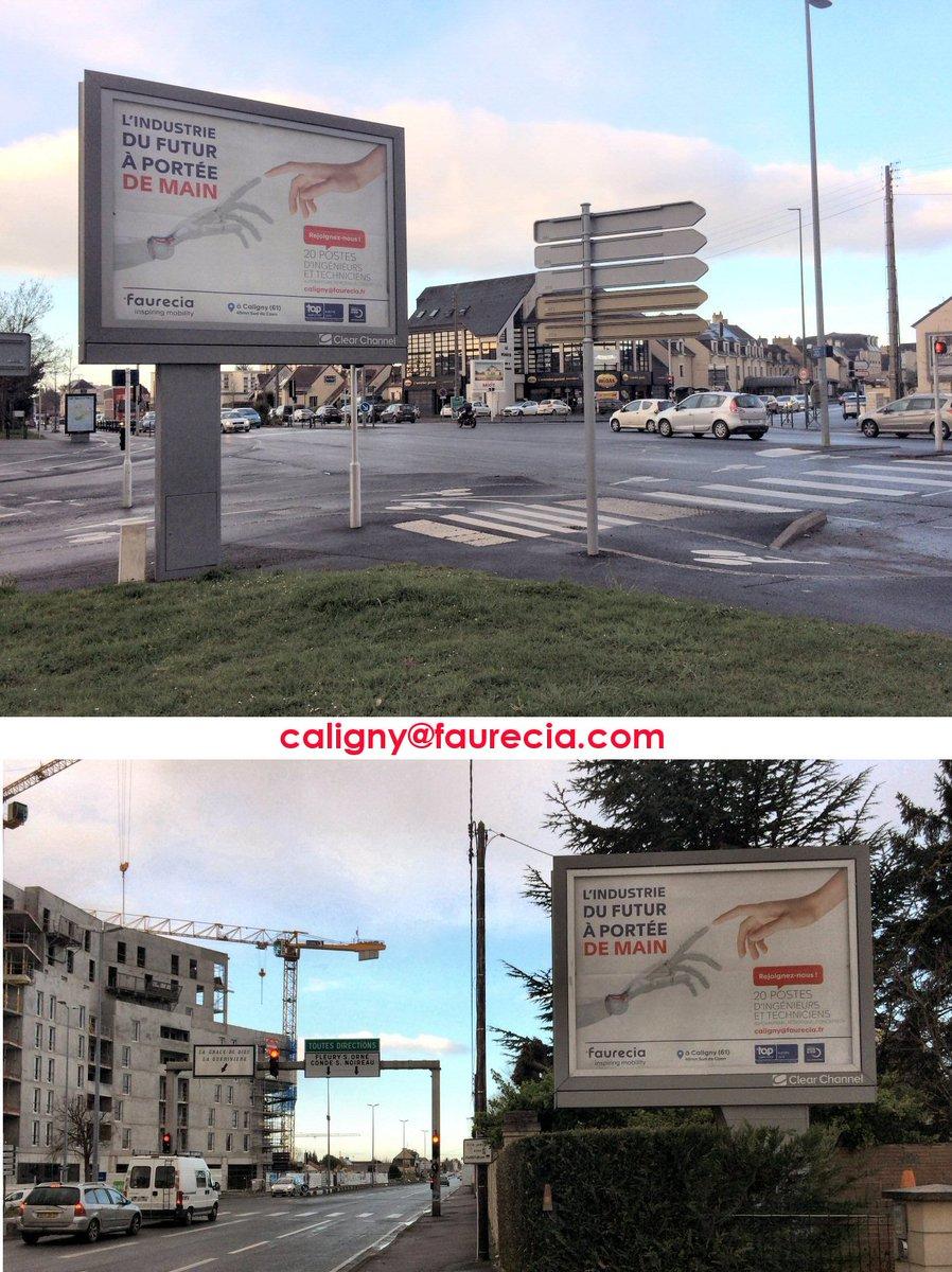 Affichage externe (Caen, Vire, Flers) campagne de recrutement @FaureciaCaligny (x 32 supports papier et digital) https://t.co/qQIBZ2wWIK