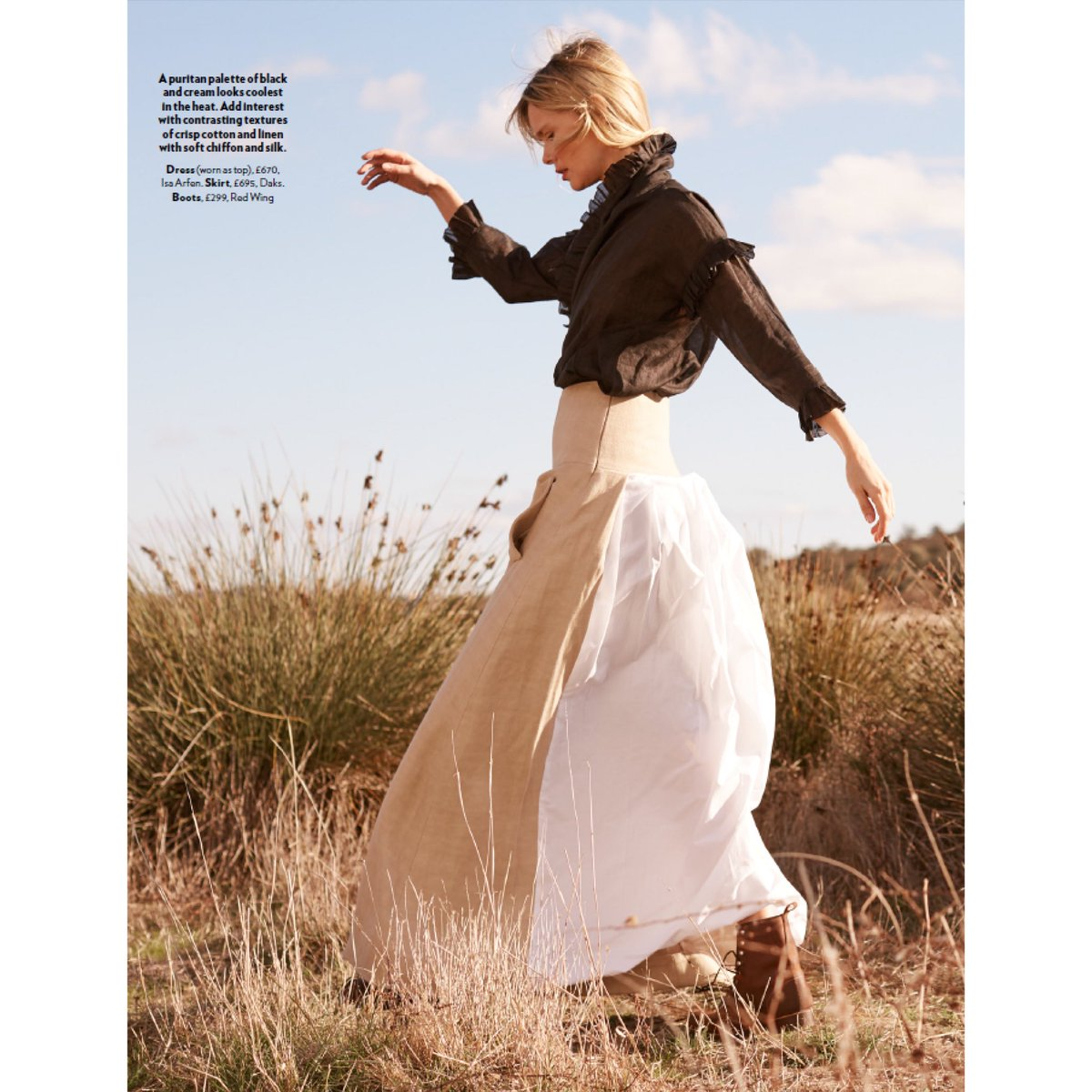 Go West, as seen in this months @redmagazine featuring one of our SS18 show pieces! #DAKSLondon #SS18 https://t.co/8cF6jgMpz4