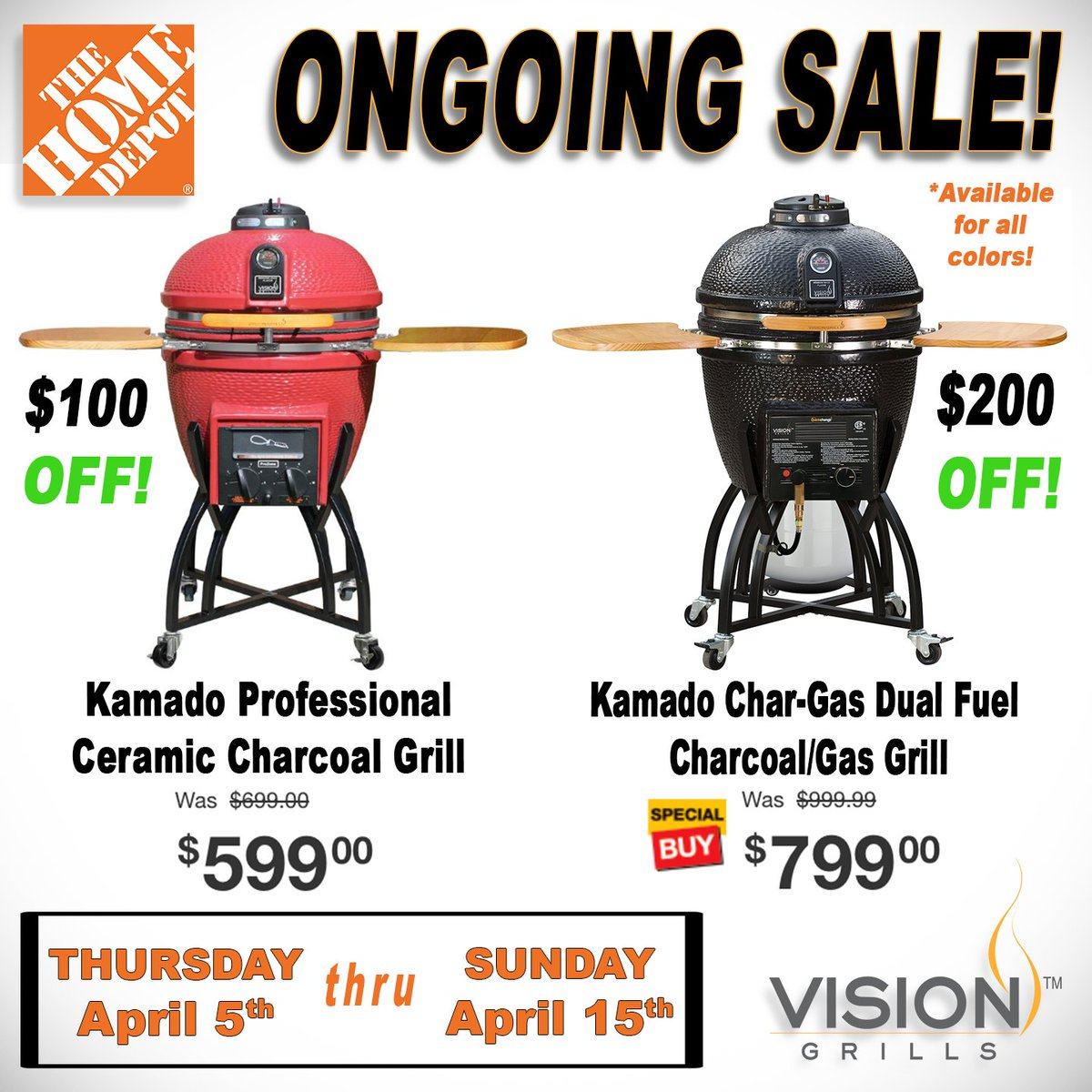 Check Out The Here Https Www Homedepot S Vision 2520grills Ncni 5 Visiongrills Do Grilling Lfiestyle Ping