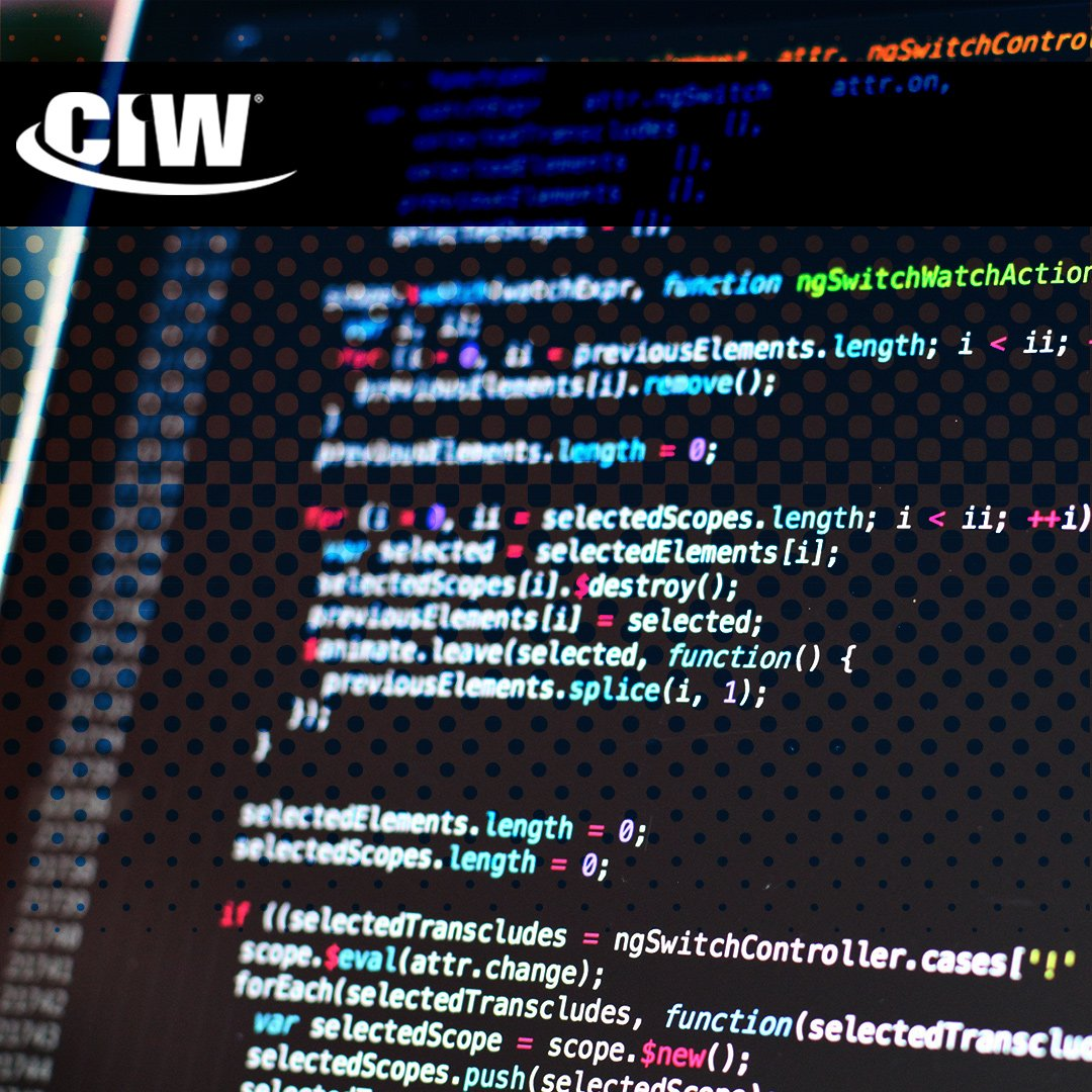 Ciw certification ciwcertified twitter internet technologies e commerce site design strategies javascript the list goes on find out more about all the skills we teach on our website 1betcityfo Images