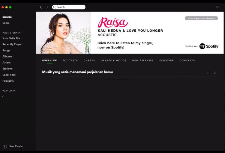 Thank you @SpotifyID for featuring me! Love!