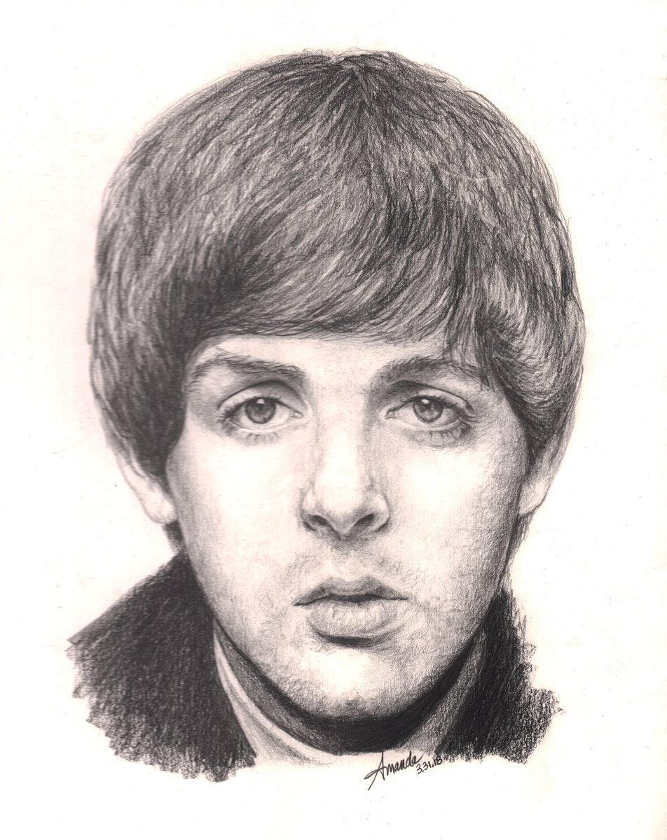 my #drawing of @PaulMcCartney for #FanArtFriday from a photo by @BaileyQuotes    #whatsnewpaul #pencil #art #portrait