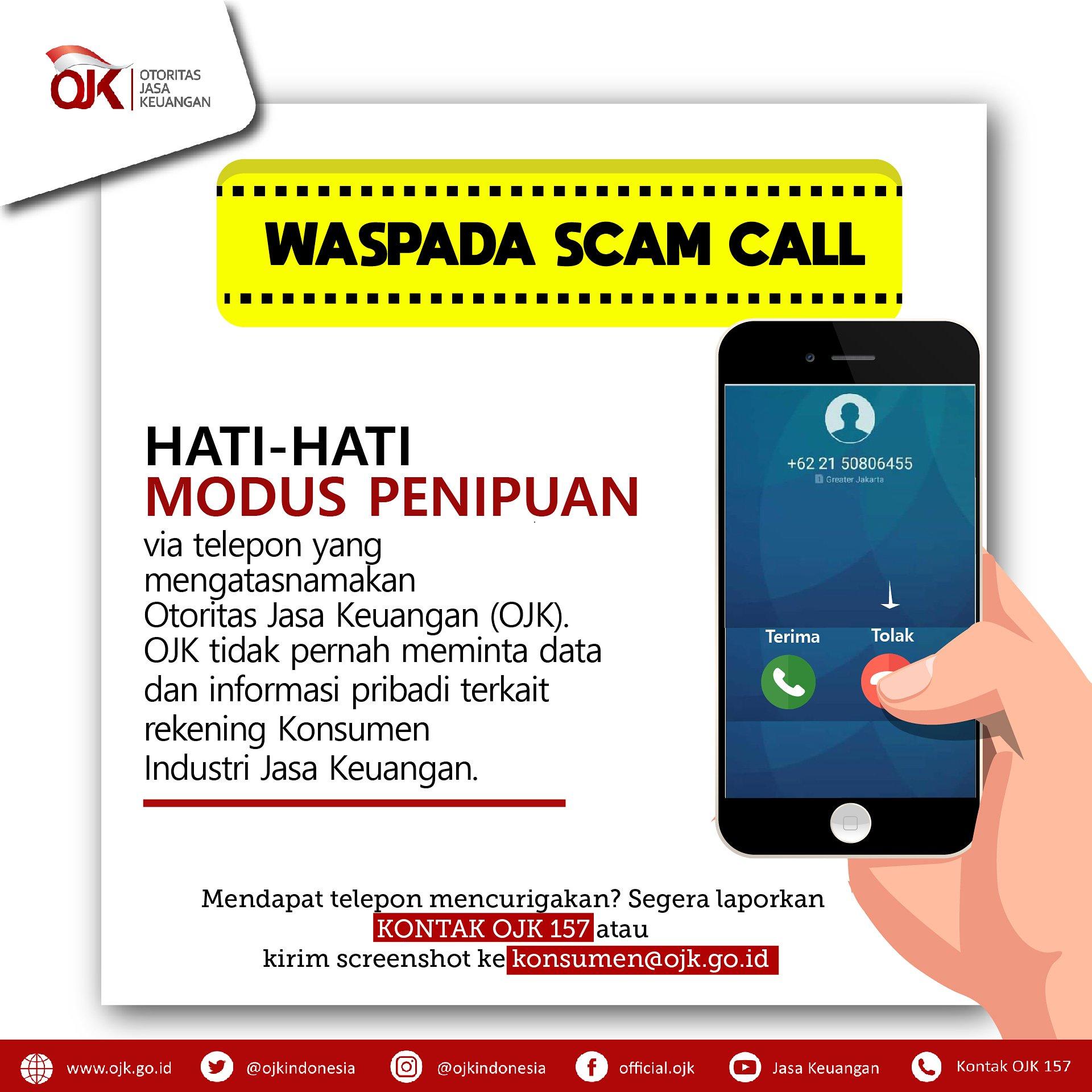 Ojk Indonesia On Twitter Jangan Diangkat Dapat Telepon