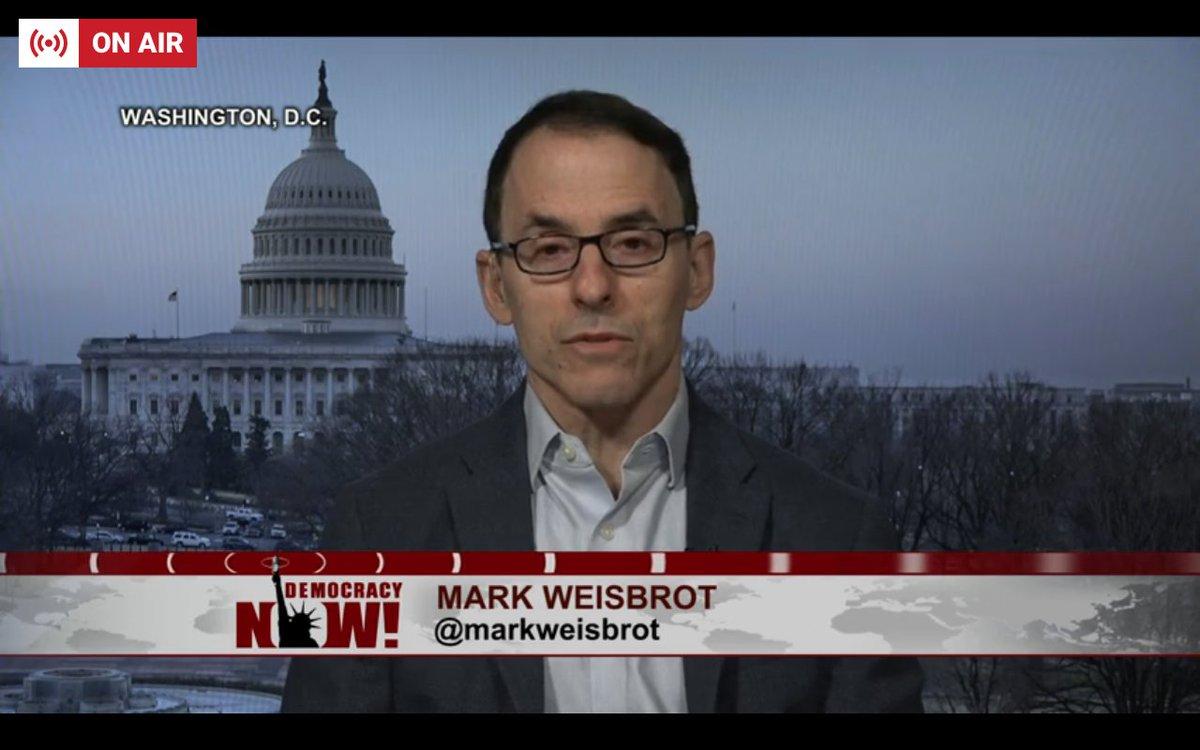 Resultado de imagen para Democracy Now Weisbrot