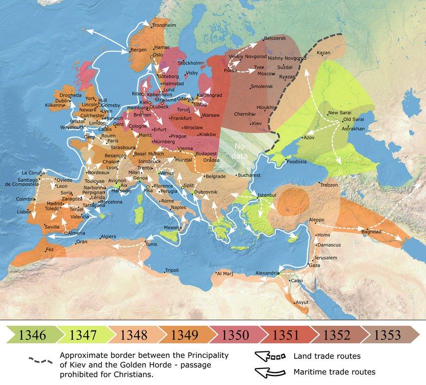 Simon Kuestenmacher on Twitter History map shows the spread of