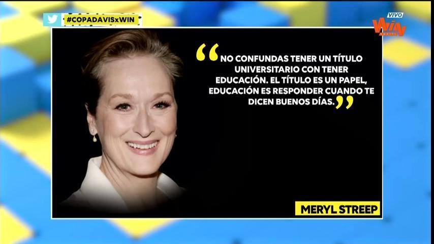 Kick Off On Twitter La Frase Del Día Es De Meryl Streep
