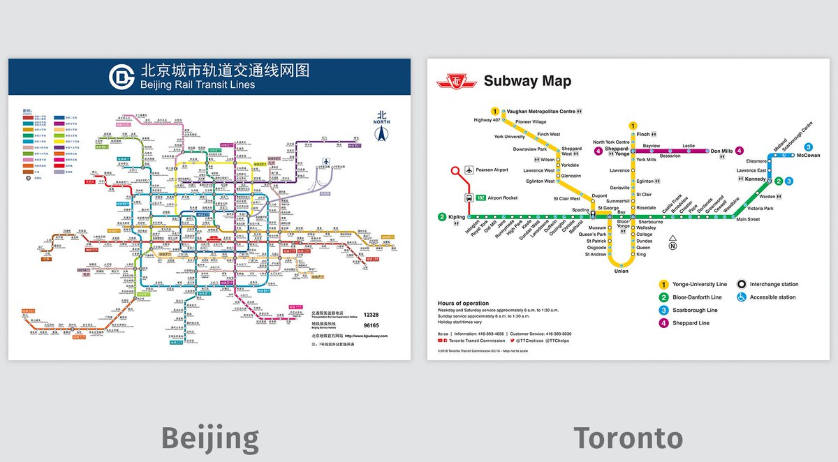 Beijing Subway Map 2018 Pdf.Transit Maps On Twitter Comparison Images For Beijing And Toronto
