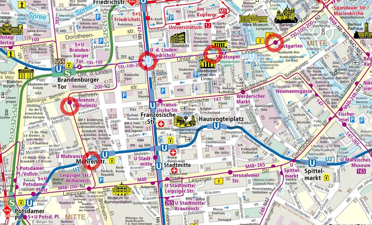 N Bus Map on