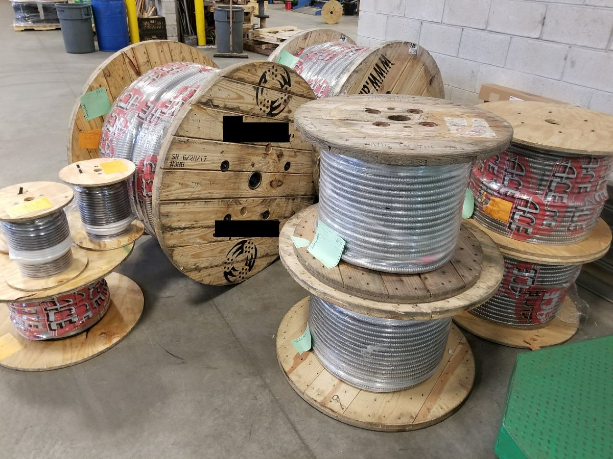 Ace Wire Cable On Twitter Reels Of Multi Conductor Feeder Size Copper Electrical Xhhw Acewire Buildingwire Spools Allpurposemc Armoredcable Aluminum Steel Electric Electricity Ec Thhn Xlp