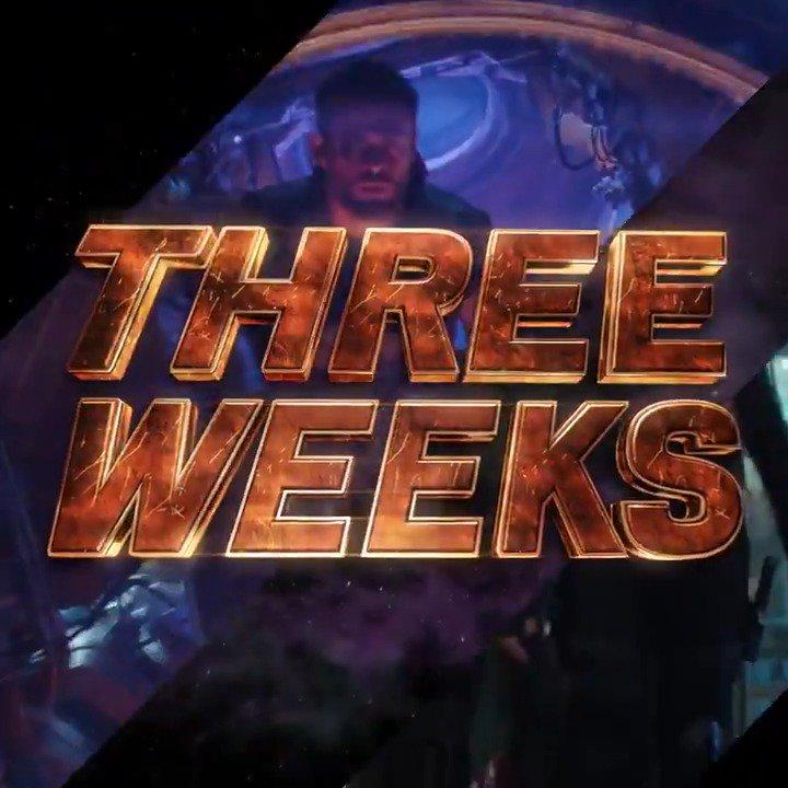 See Marvel Studios' @Avengers: #InfinityWar in three weeks. Get tickets: https://t.co/UiS1rbqfAk https://t.co/XfCtWx1ME5