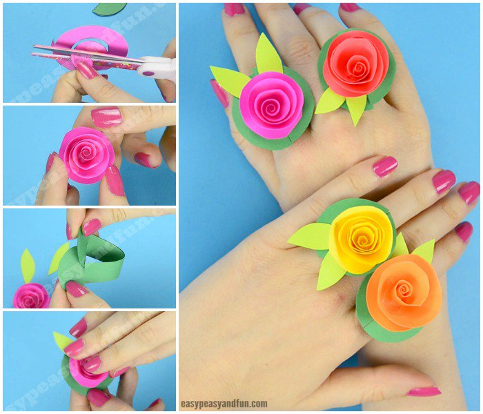 Easy Peasy And Fun On Twitter DIY Flower Paper Rings