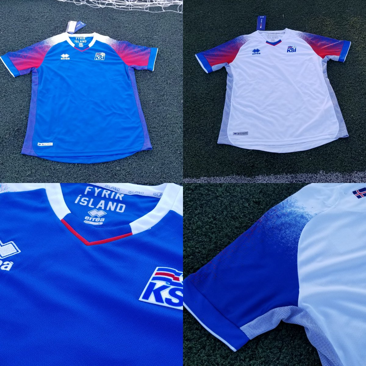 d58956879e2 Our first look at the Iceland 2018 World Cup home and away kits by Errea.  Stay tuned for our World Exclusive Up-Close of them.