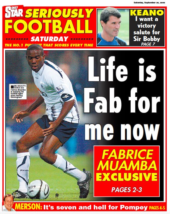 Happy Birthday Fabrice Muamba @Daily_Star page from 2009 http://www.ukpressonline.co.uk                                (use code Twitter1 for 24hr free access) #OTD #research #archives #News @fmuamba #FabriceMuamba #muamba @OfficialBWFC #BWFC