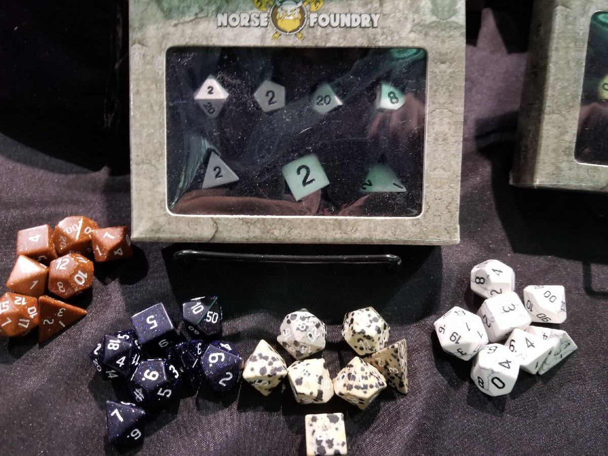 Uzivatel Norse Foundry Na Twitteru At Pax East And Want To Get Some Norse Foundry Dice Swing By Our Friends At Table Titans Booth 10117 Who Have A Full Range Of Great Perfect dice set for playing dungeons and dragons, pathfinder, shadowrun or any other d20 based games. twitter