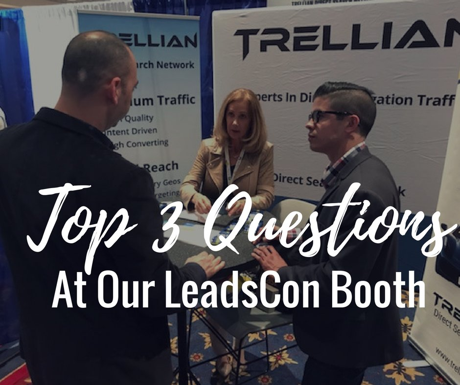 Louie and Nancy explain domain redirect traffic to a visitor at our booth. Click to see more pictures from Leadscon 2018.