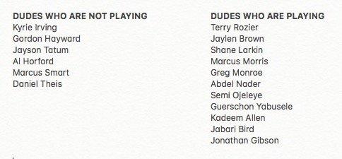 Game On! Bulls @ Celtics - April 06, 2018 DaHk4M3XcAEW528