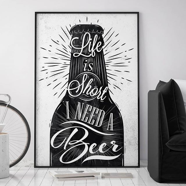 Finally it's weekend!🙌 - Shop this wall art in the link in the bio. I NEED A BEER I by Anna Kozlenko - #artboxone #bespecial https://t.co/Ar103YC4Z2