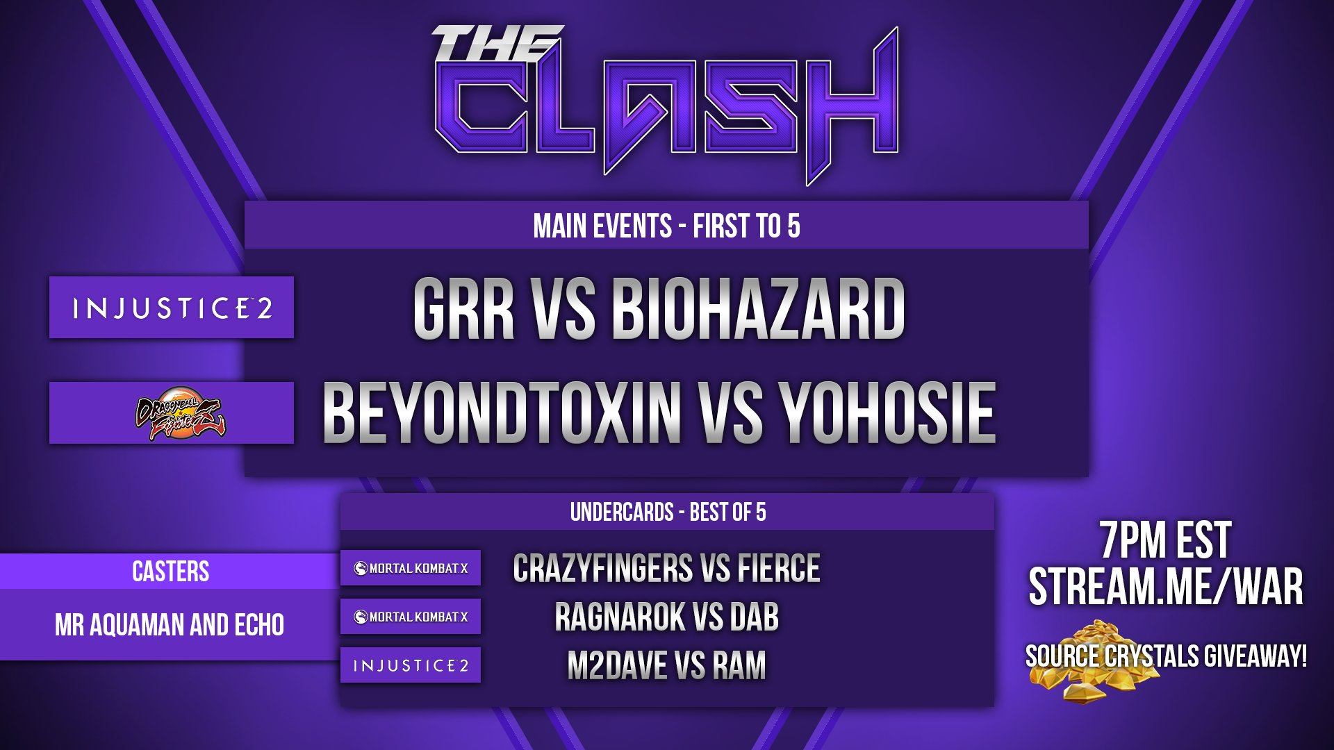 Don't forget tonight! #TheClash   THREE GAMES AND TOP PLAYERS GOING AT IT!   https://t.co/w0f5tJlBkx 7pm est https://t.co/iWnazJb5zF