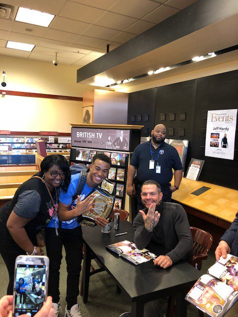 Its #WrestleMania week! And the @WWEUniverse was in full force to see @JEFFHARDYBRAND at @BNMetairie for a signed WWE Ultimate Superstar Guide! wwe.me/x7SePE