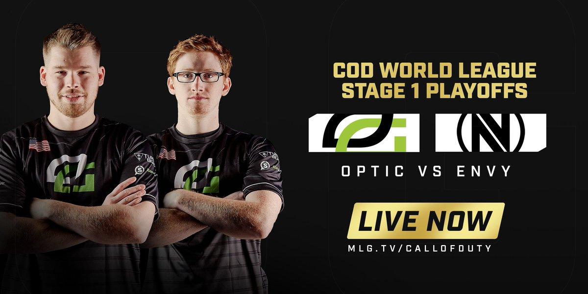 It's #OpTicCoD vs Team Envy in the CWL Stage 1 Playoffs  Watch: https://t.co/U0wgkPW66v