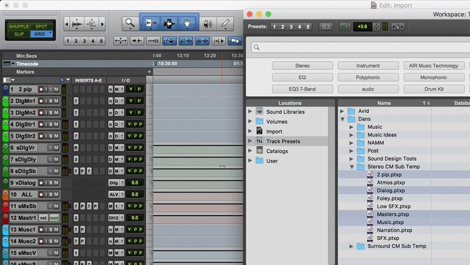 Pro Tools: Track Presets for Audio Post — Sub-Templates - Avid Pro ...