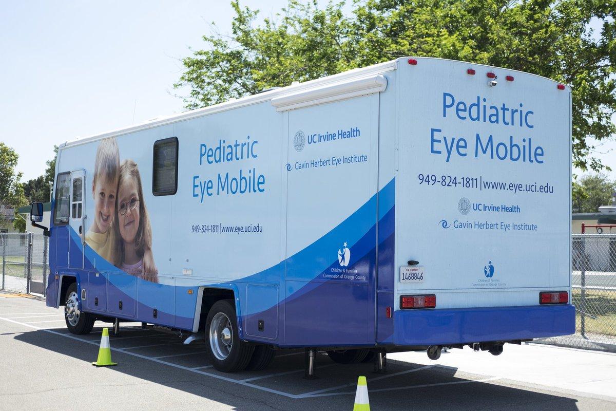 The @UCIrvineHealth Gavin Herbert Eye Institute Pediatric Eye Mobile will conduct free children&#39;s #EyeExams April 7.  http:// ow.ly/wdyb30jmIoh  &nbsp;  <br>http://pic.twitter.com/PKnzAglQBa