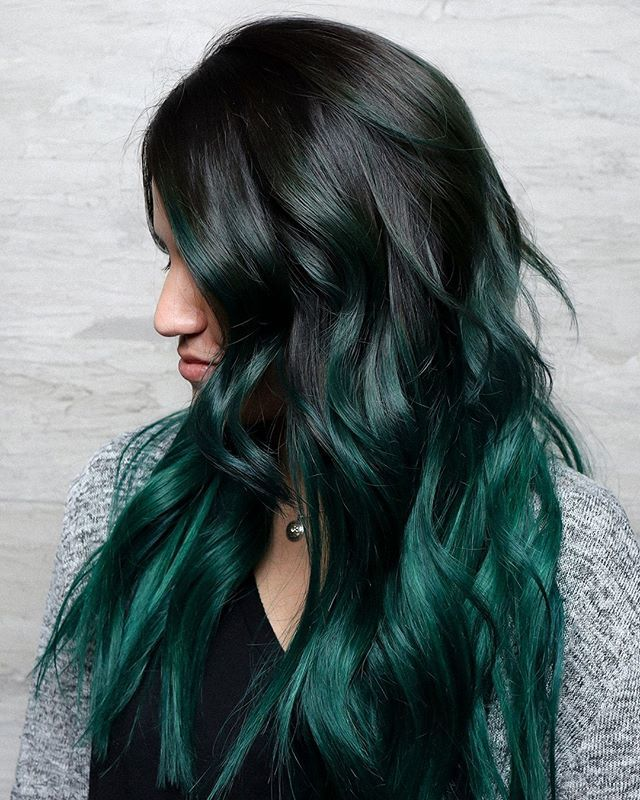 The Hair Standard On Twitter Emerald Hair Now Longer Extensions