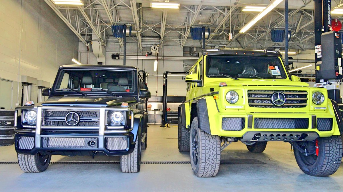 Mb Heritage Valley On Twitter On The Left Is The Standard Size G Wagon On The Right The G550 4x4 Squared If You Want To See This Electric Beam Beauty For Yourself Live