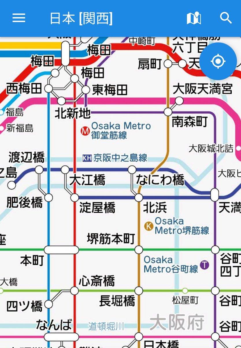 図 メトロ 路線 地下鉄 大阪