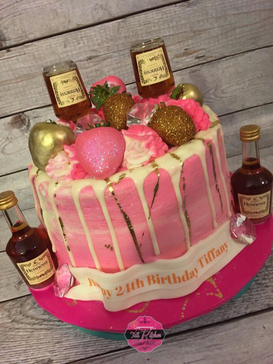 Enjoyable Ig Tati Kitchen On Twitter Pink Hennessy Cake Funny Birthday Cards Online Alyptdamsfinfo