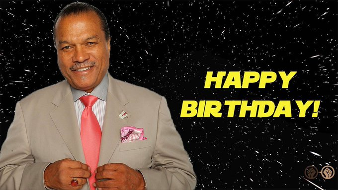Happy Birthday, Billy Dee Williams! The legendary actor who gave us the iconic Lando Calrissian turns 81 today!
