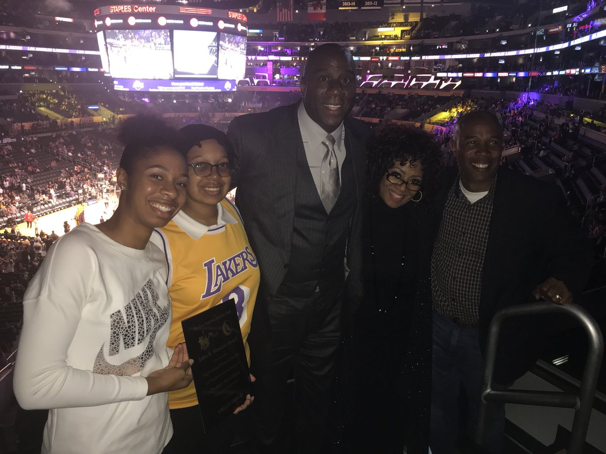 Hanging out at today's game with my fellow West Angeles member Elder Darin McAllister and his great family.  Congratulations to his daughter Destiny who was just named the John Wooden 2018 California Girls Player of the Year!