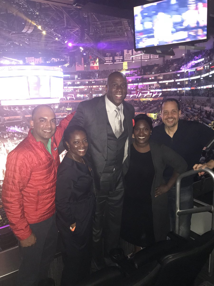 I enjoyed visiting with my Goldman Sachs partners tonight at the Lakers vs. Timberwolves game.