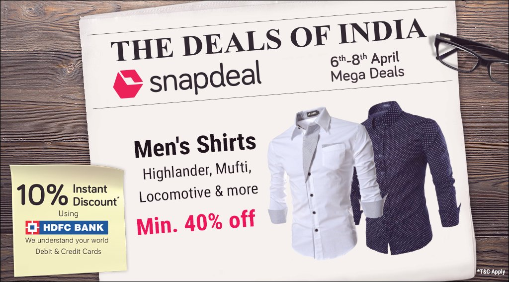 d6cfe9bb4dc Snapdeal on Twitter