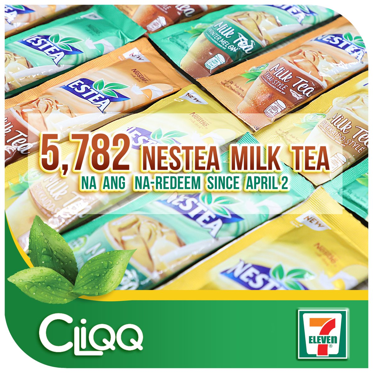 More than 5,000 na ang nag redeem!   Kaya wag magpahuli! Start redeeming 7-Eleven rewards with the CLiQQ app today: https://t.co/NGzH7rbfkn Get Nestea Milk Tea 12g with your 20 CLIQQ points https://t.co/c6PyxYxEdO