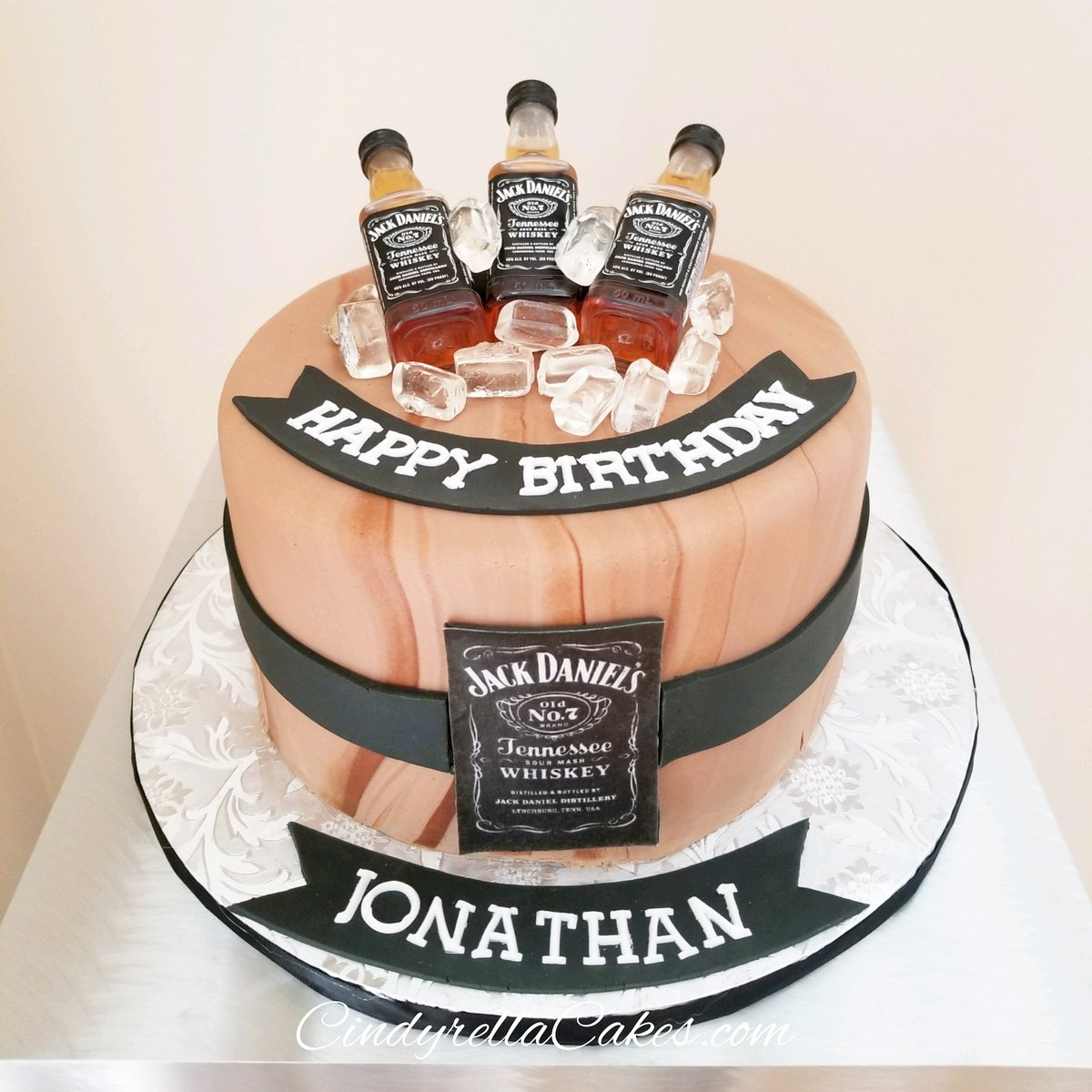 Super Cindyrella Cakes On Twitter Jack Daniels Birthday Cake Personalised Birthday Cards Sponlily Jamesorg