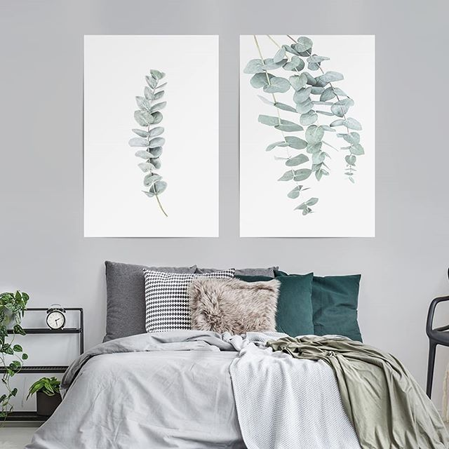 Decorate your home with the tender green of eucalyptus leafs.🌿 - Get these designs in the link in the bio. EUKALYPTUS I & II by Sisi an Seb - #artboxone #bespecial https://t.co/47gItSyPU2