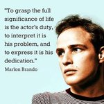 Image for the Tweet beginning: #marlonbrando #actor #Hollywood #great #InspirationalQuotes
