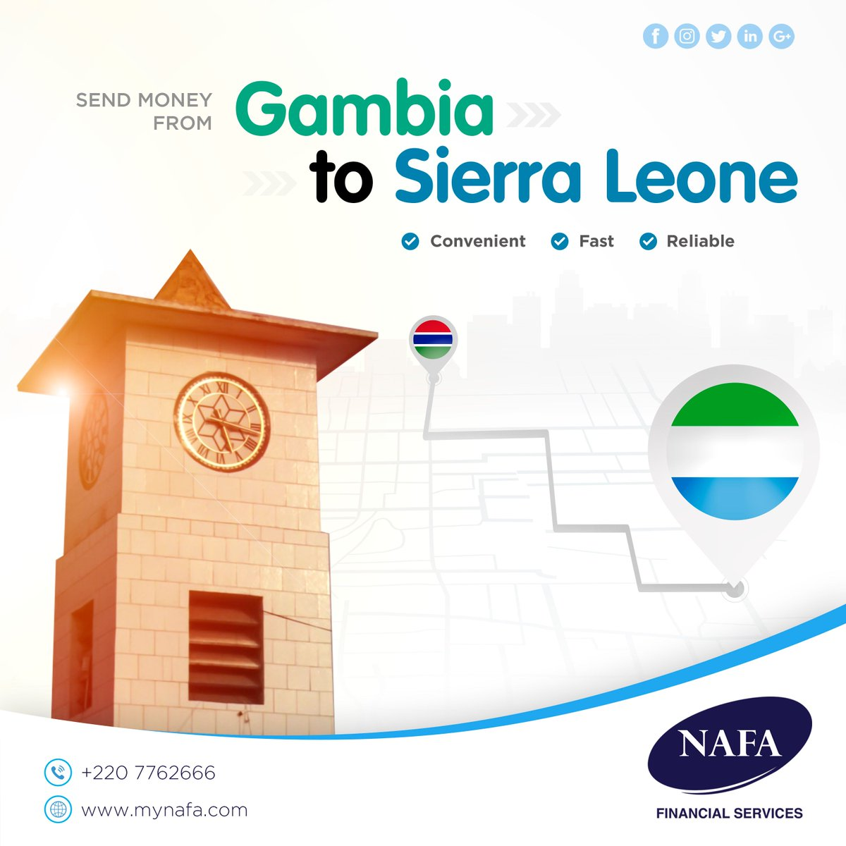 Send Money From Gambia To Sierra Leone With Zero Hle Contact Nafa Financial Services 2207762666 We Offer Great Rates And Exceptional Service