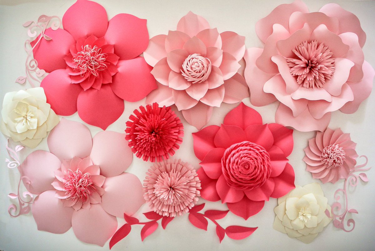 Brainycraft On Twitter Diy Paper Flower For Wall Backdrop Paper