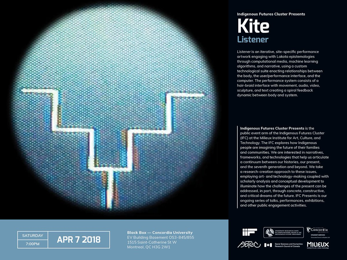 Abtec On Twitter A Reminder That The Montreal Debut Of Kites Black Box Relationship Diagram Latest Artwork Listener Will Take Place Tonight At 7 Pm Concordia University