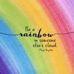 Image for the Tweet beginning: Be a rainbow in someone