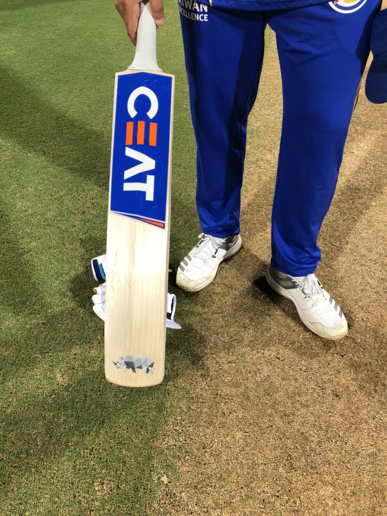 Did you see the great man @ImRo45 with @SORAI2018 on his bat this eve?   He's as passionate as I am in saving our rhinos!