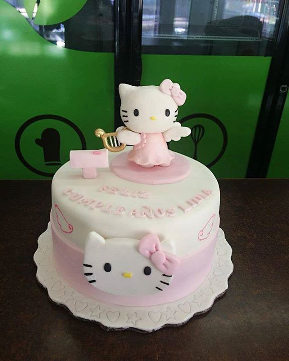 Cocolimon On Twitter Kitty Cake Cocolimon Cute Cat Pink Beautiful Hellokittys Fondantcake