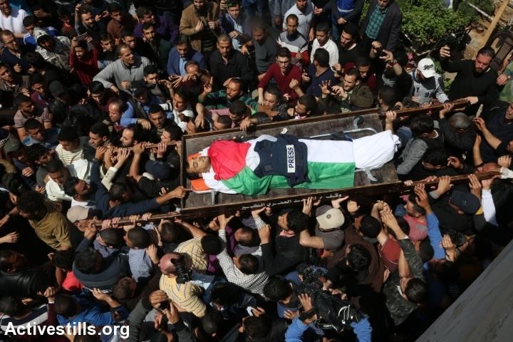 6 апреля погиб сражённый израильской пулей известный палестинский журналист Ясир Муртага