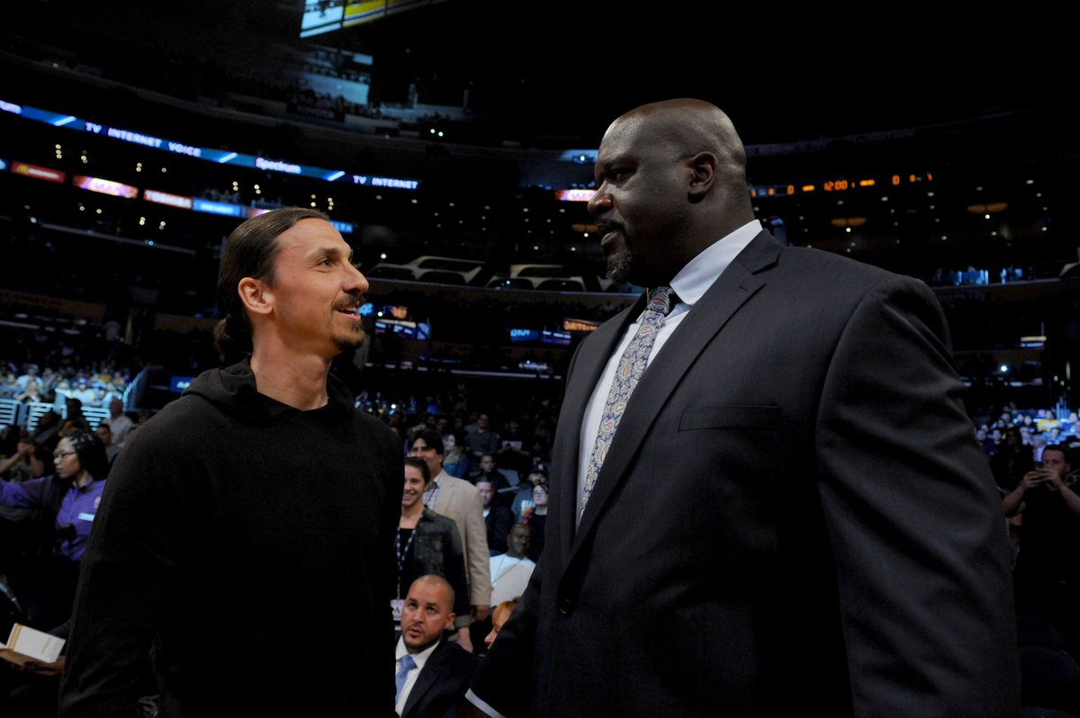 Shaq dan Ibrahimovic Tonton Pertandingan NBA